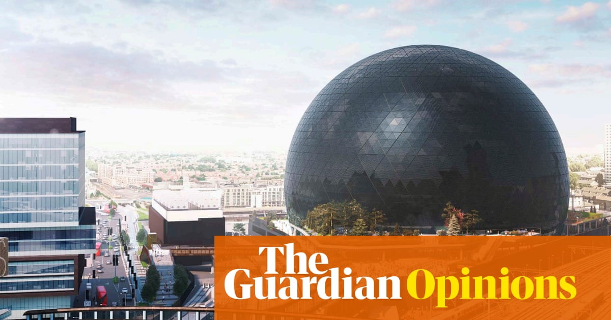This monstrous glowing orb makes a mockery of east London's Olympic legacy