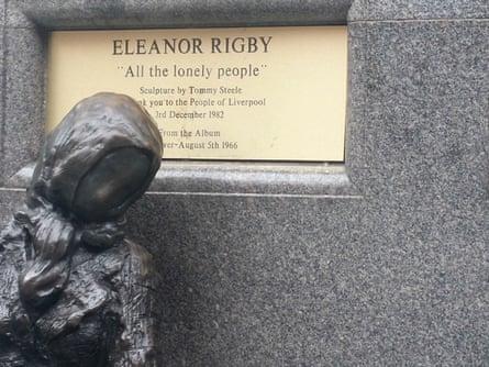Eleanor Rigby in Stanley Street, Liverpool.