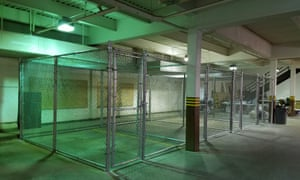 Temporary holding cells have been installed at the Morton County correctional center to deal with the mass arrests.