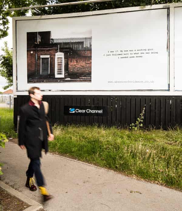 Hidden tragedy ... a billboard in Hull.