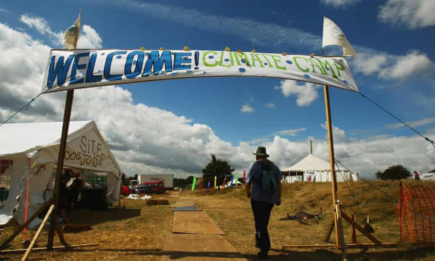 In 2008 activists set up the Camp for Climate Action near Kingsnorth power station.
