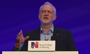 Jeremy Corbyn at the RCN conference