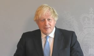 Boris Johnson speaks via videolink during PMQs. (Photo: House of Commons/PA Wire)