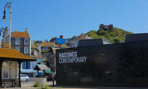 Hastings Contemporary, with the funicular in the background