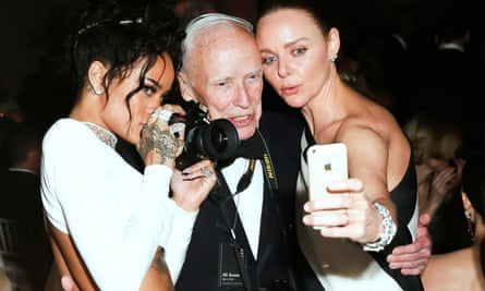 Rihanna, left, with Bill Cunningham, and Stella McCartney at the Metropolitan Museum of Art, New York, in 2014.