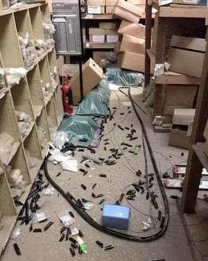 Thieves ransacked the premises of Canterbury Archaeological Trust during a series of break-ins.