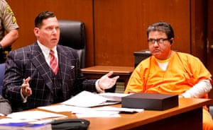 Naasón Joaquín García (right), the leader of a Mexico-based evangelical church with a worldwide membership of more than 1 million, appears with his defence attorney, Ken Rosenfeld, at Los Angeles superior court
