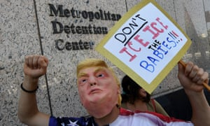 Protest at an Ice detention facility in LA on 30 June, 2018.
