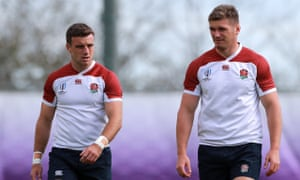George Ford (left) and Owen Farrell (right) will start the semi-final.