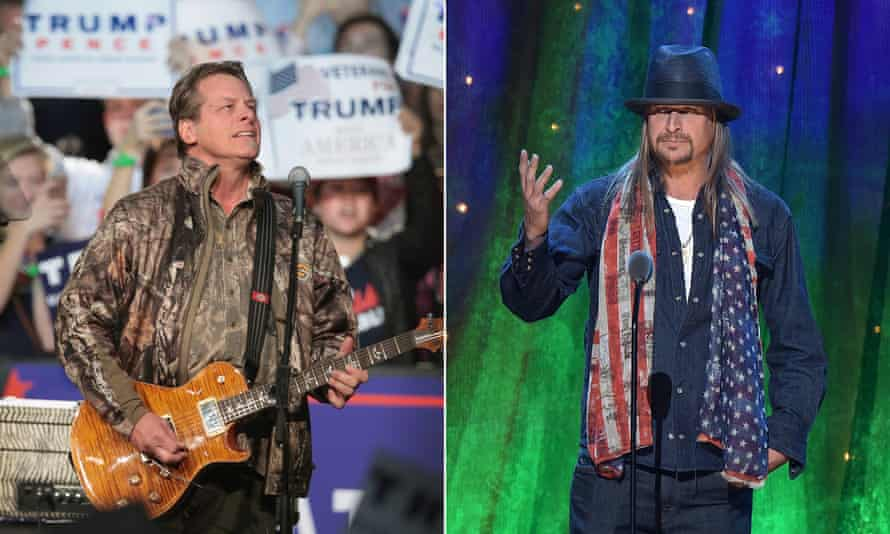 Michigan senate candidates Ted Nugent and Kid Rock.