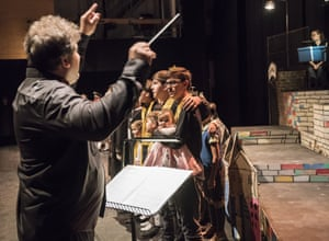 Conductor Tomáš Hanus and WNO Youth Opera are joined by Hanus's eight children for the encore of Brundibár.