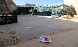 The deserted Tal Arqam base after the withdrawal of US forces, Ras al-Ein, north Syria, 7 October 2019.