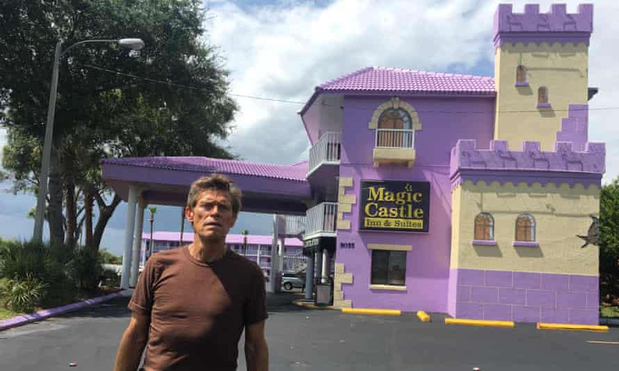 Willem Dafoe as a motel manager in The Florida Project