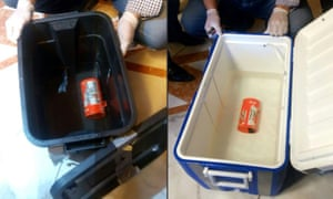 The flight data recorder, left, and the cockpit voice recorder, recovered from the wreckage of flight MS804.