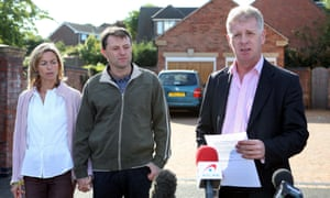 Clarence Mitchell with Kate and Gerry McCann