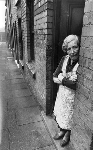 A street scene in Birkenhead in 1971