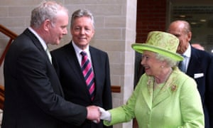McGuinness and Queen shake hands