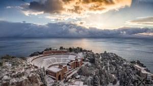 Andrea Strazzeri's photograph of Taormina's theatre using a drone.