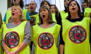 Choristers from the English National Opera were involved in a dispute over jobs and pay earlier this year