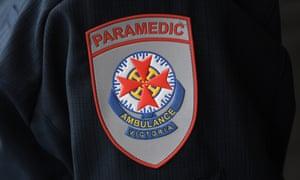 An Ambulance Victoria paramedic badge