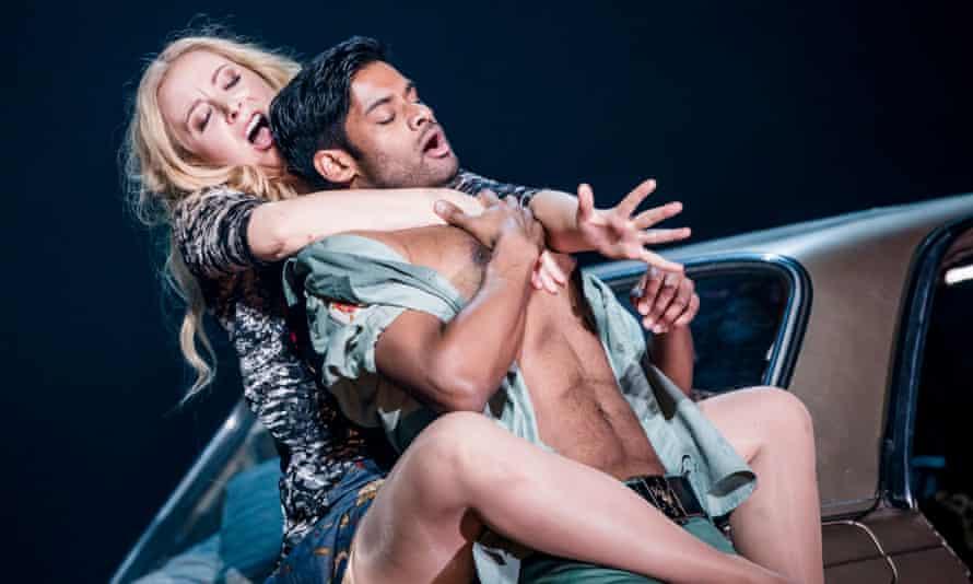 Carmen in the car park … Justina Gringyte and Sean Panikkar.