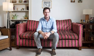 Nick Clegg at home in London