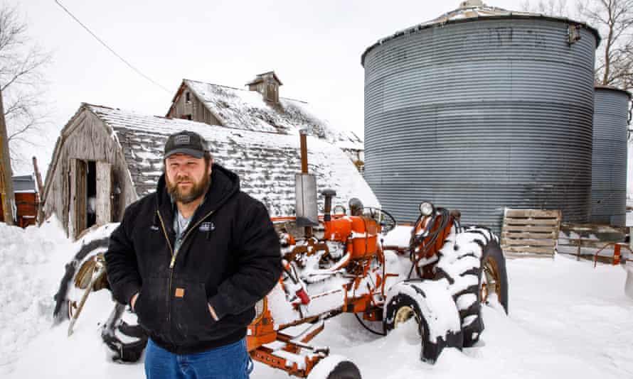 Activist Nick Schutt in Williams, Iowa.