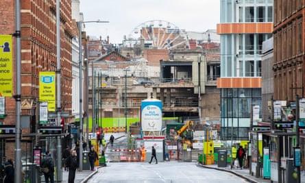 The demolished Broadmarsh Centre in Nottingham