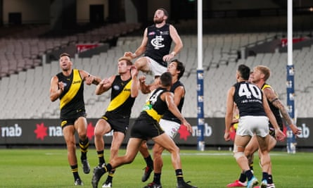 Mitch McGovern attempts to mark