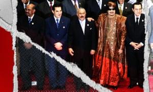 From second left: Tunisia's Zine al-Abidine Ben Ali, Yemen's Ali Abdullah Saleh, Libya's leader Muammar Gaddafi and Egypt's Hosni Mubarak pictured in 2010.