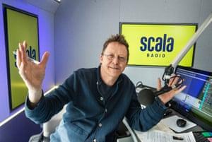 Bringing his listeners with him… Simon Mayo at Scala Radio last week.