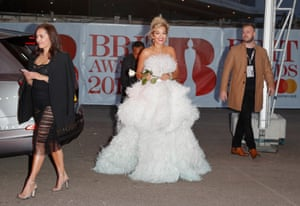 Rita Ora arrives