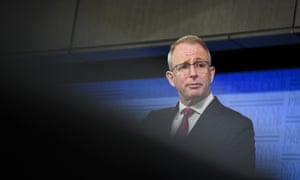 Australian communications Minister Paul Fletcher at the National Press Club in Canberra 23 September 2020.