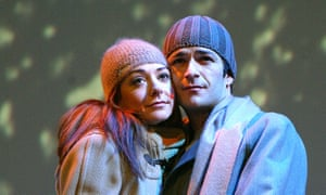 Luke Perry and Alyson Hannigan in When Harry Met Sally at the Theatre Royal Haymarket, London, in 2004.