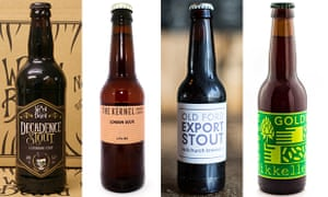 Four of the best … Decadence Stout, London Sour, Old Ford Export Stout and Green Gold by Mikkeller.