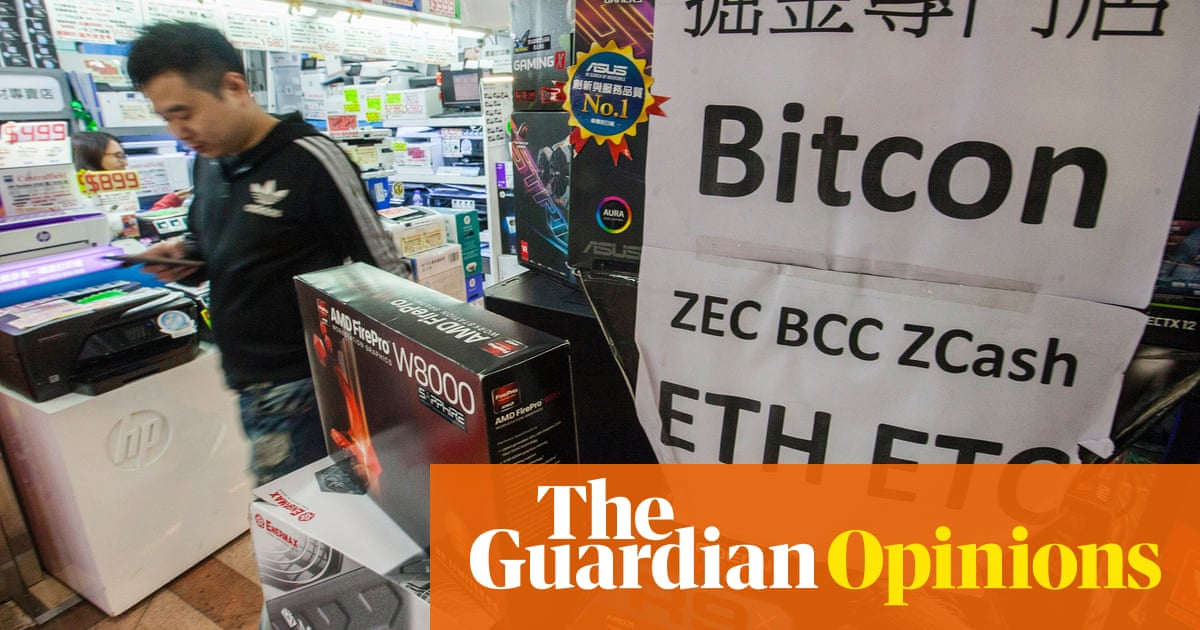 The guardian view on cryptocurrencies a greater fools gold a trader in hong kong advertises high speed computers that can be used for bitcoin ccuart Images