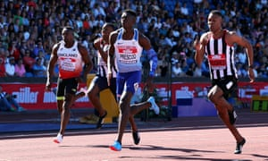 British Championships Athletics - Alexander Stadium, Birmingham, June 30, 2018 Reece Prescod wins the Men's 100m final