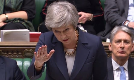 Theresa May speaking in the Commons on Tuesday
