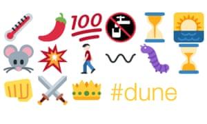 Dune in emojis, by Kyle MacLachlan