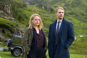 Sian Reese-Williams and Sion Alun Davies in the detective series Craith/Hidden, which was originally broadcast in Welsh. Photograph: S4C