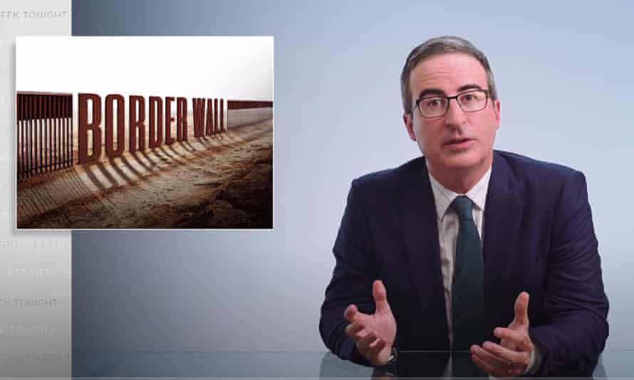 John Oliver: 'Trump's like a shut-in who sits at home all day and orders what he sees on Fox commercials. But instead of ordering LegendsXL male enhancement pills, he picks companies to build a giant wall across the southern border.'
