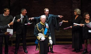 Tim Pigott-Smith in the West End transfer of King Charles lll at Wyndham's theatre, London, in 2014.