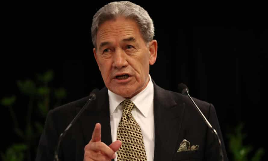 New Zealand deputy prime minister Winston Peters