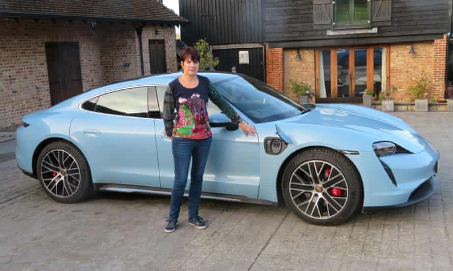 Linda Barnes and her Porsche Taycan 4S