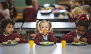 Lunch time at St Mary Redcliffe Primary School in Bristol