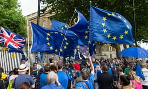 Pro-EU demonstration in London in June, on the first anniversary of the Brexit referendum