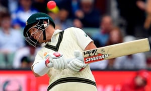 Australia's batsmen struggled against New Zealand's short-pitched bowling in Perth.