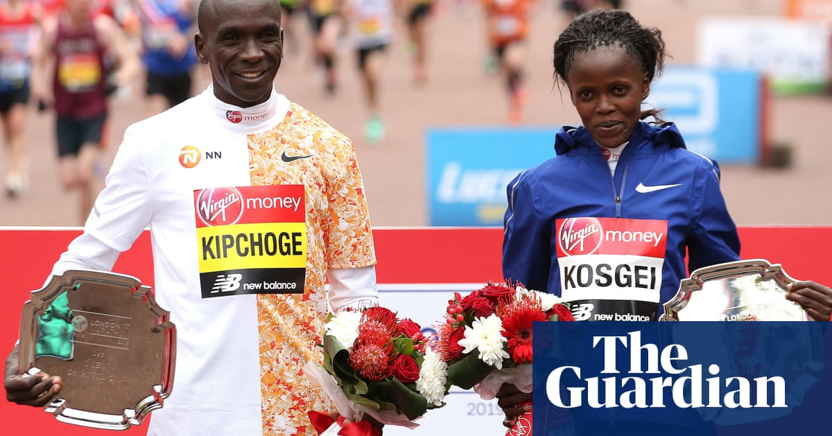 7dfdc75015 London Marathon: Eliud Kipchoge and Brigid Kosgei win men and ...