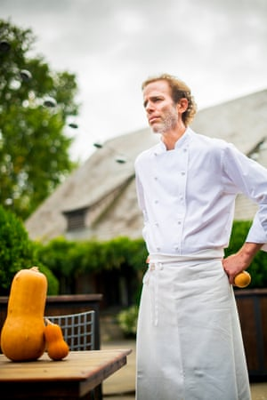 Dan Barber is the chef and co-owner of Blue Hill in Manhattan and Blue Hill at Stone Barns in Pocantico Hills, New York. He is one of the fiercest culinary advocates for sustainable, ethical farming and seasonal cooking. 10/3/18 Photograph by Ali Smith