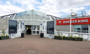 The main entrance to Thurrock services on the M25